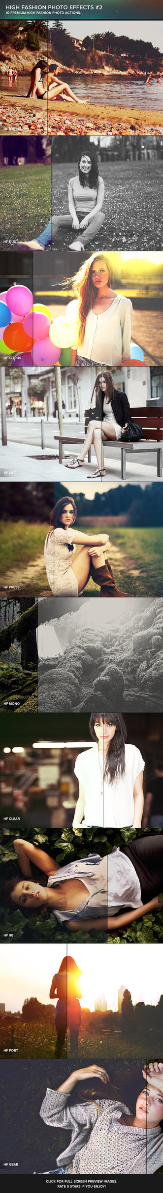 High Fashion Photoshop Actions #2 by frozencolor