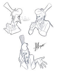 Human Bill Cipher Sketches