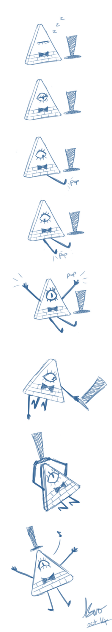 Comic strip - Bill Cipher wake up by TheCreatorsEye