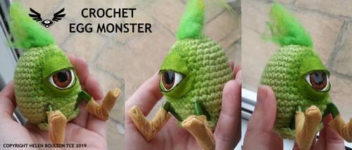 Egg Mon - Crochet doll by TheCreatorsEye