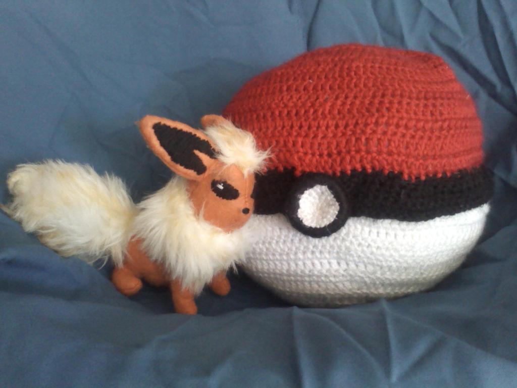 Flareon Next to Her Pokeball by KittyCowLexa on DeviantArt