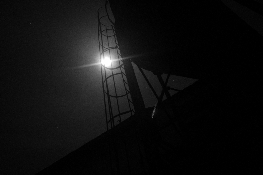 Moon over pig farm by Druid-CZ