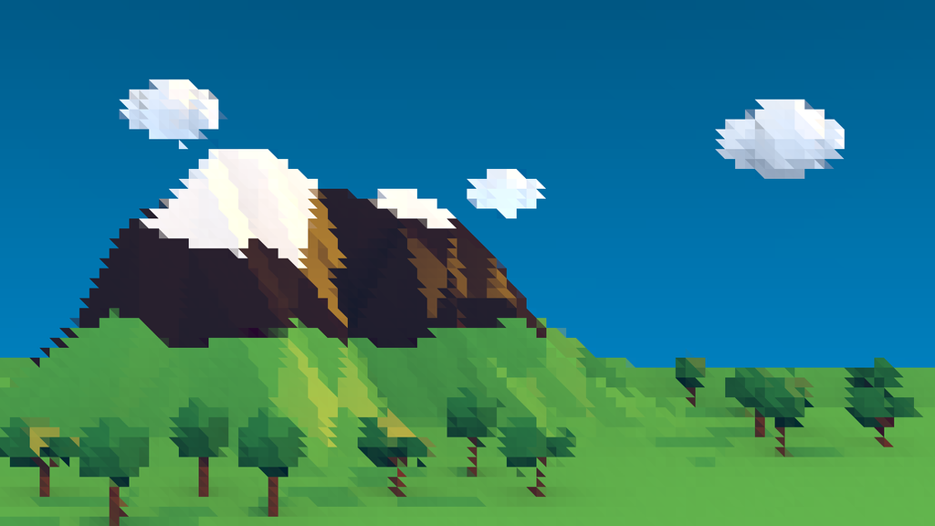 Totally lowpoly mountains :D by Druid-CZ