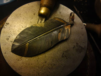 feather  - pendant