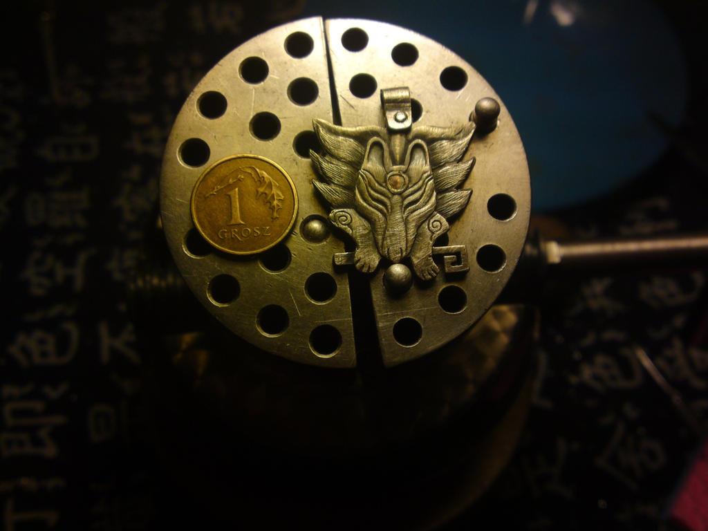Kitsune pendant by RhouenRhu