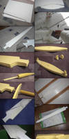 WIP 1 - Sailor Moon Galaxia Sword - Cosplay Prop