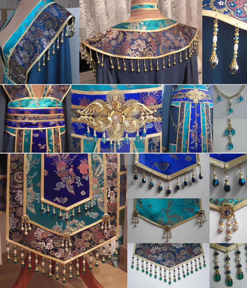 Empress of the Sea WIP 2 - all the Bling Bling by NettyCosplay