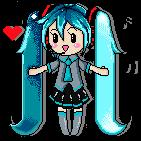 Pixel Miku by xlera