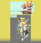 Len and Rin Youtube Background by BeckiizzBaybbiieeXx