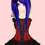 Gothic shy Anime by BeckiizzBaybbiieeXx