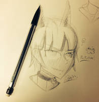 Ms. Fortune Sketch by chirsXblade