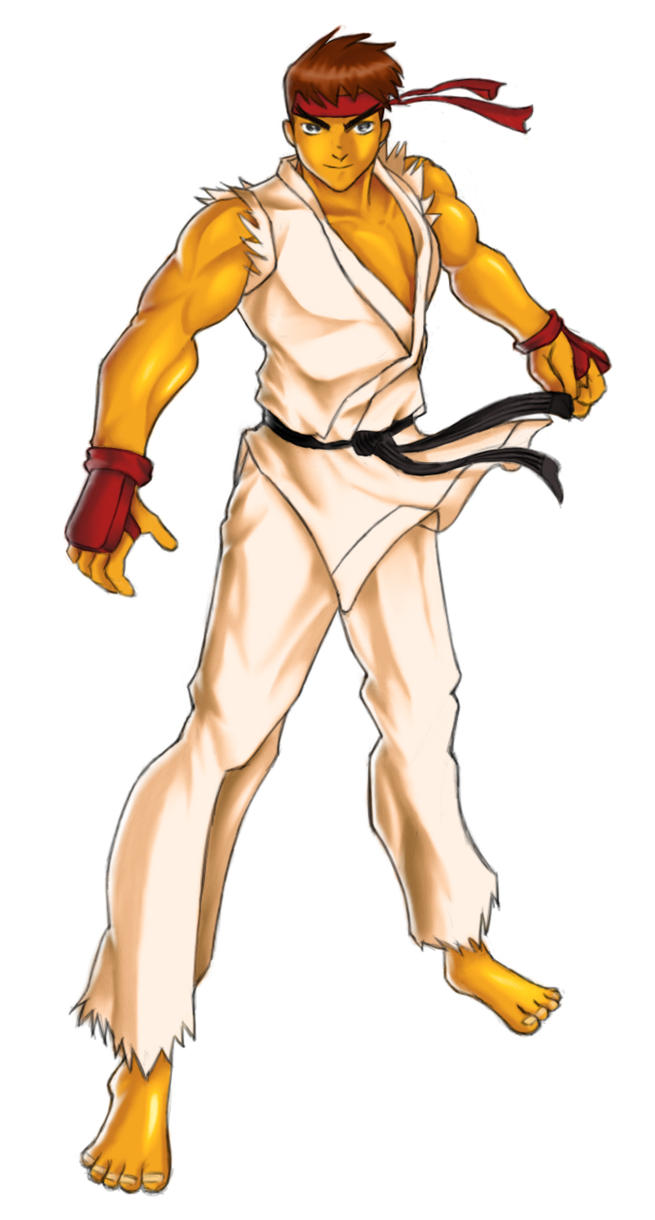 Ryu coloured by rizal82