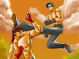 Kyo versus Ryu by rizal82