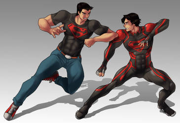 SuperBoy vs new 52 Superboy by rizal82