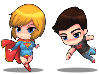 Supergirl new 52 and SuperBooy by rizal82