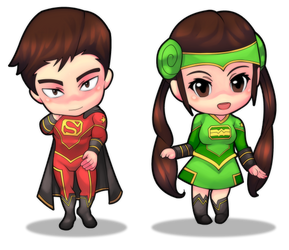 IllustrationChina super Man and Wonder Woman by rizal82