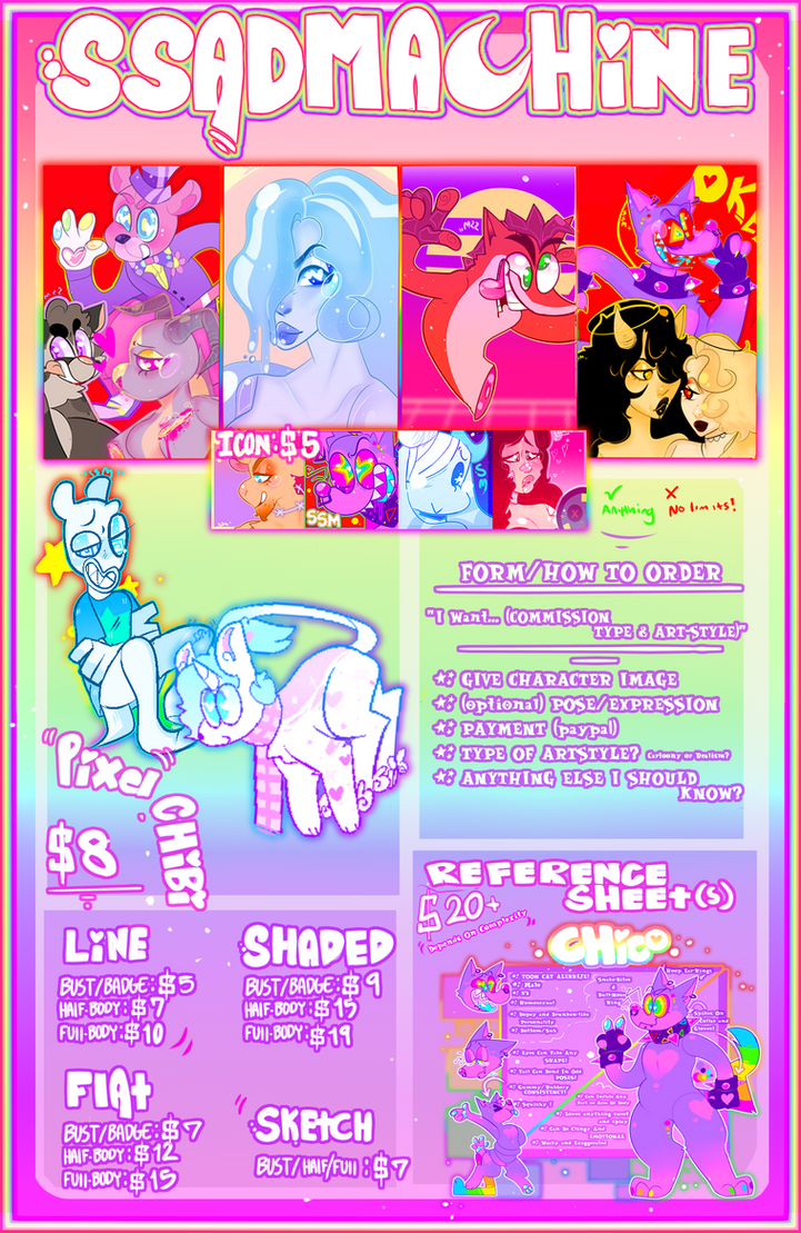 2018 COMMISSION SHEET! NO LIMITS NO WORRIES! by SSADMACHINE