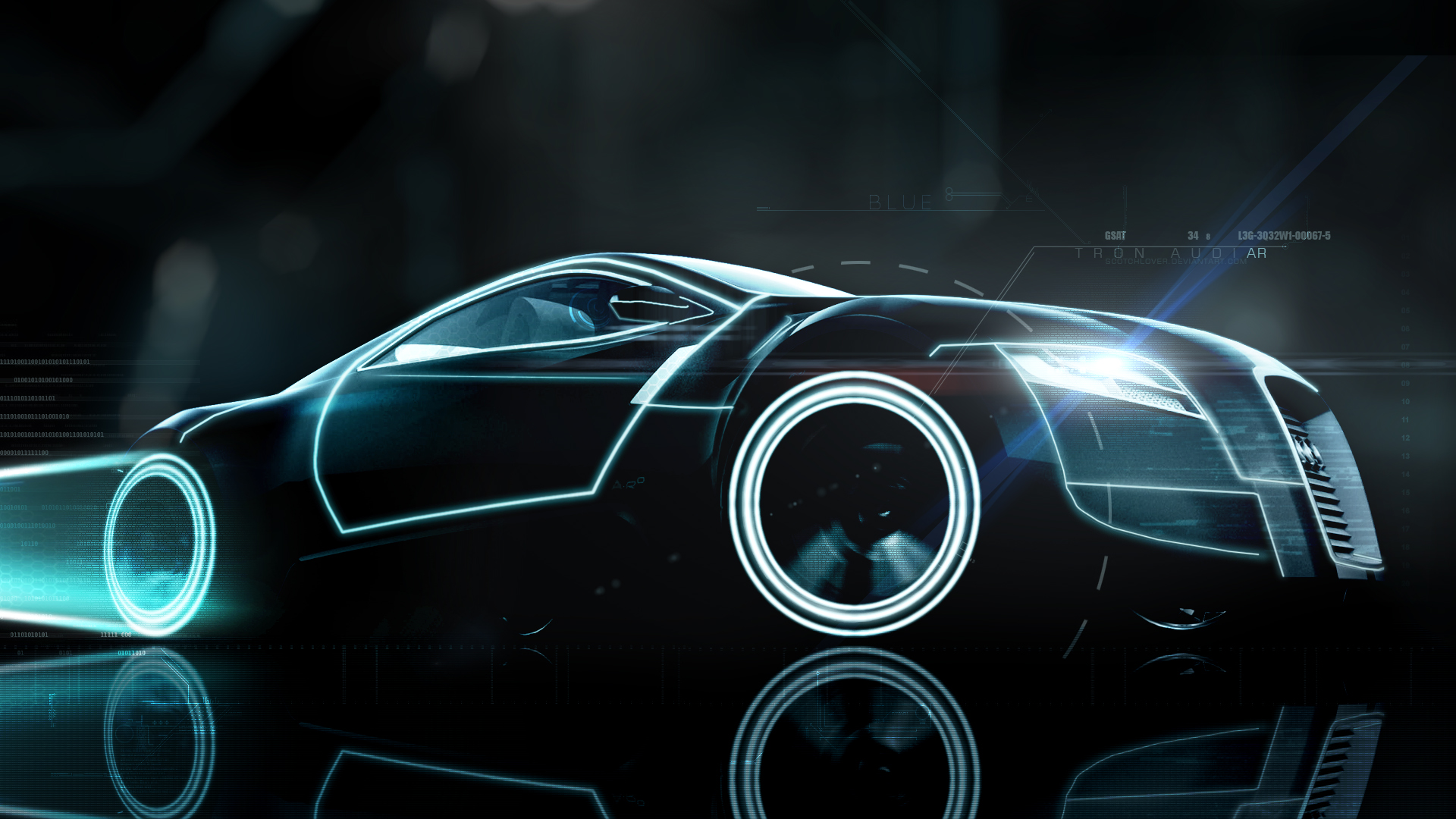 Audi AR0 Tron Blue by Scotchlover