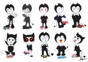 Bendy in 10 Tv Show Styles by Maja-TheHoneyBee