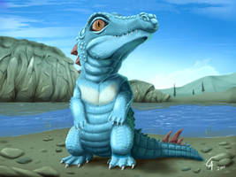 Real Totodile by CamusAltamirano