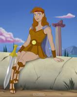 Disney Genderbend: Herculese by CamusAltamirano
