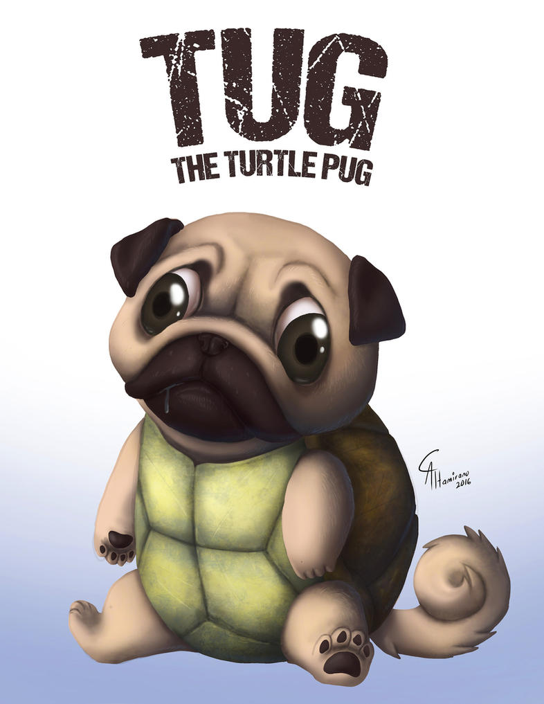 TUG: the Turtle Pug by CamusAltamirano