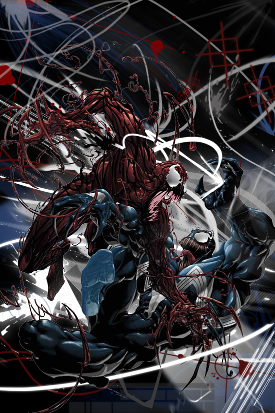 Venom vs Carnage by Pandaxninja