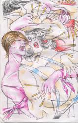 VIII 153 Rose Wrestling! Gloria Buenascurvas! by catfitemike
