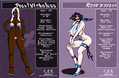 Rose DDD-21 Wrestling! Pearl Nicholass Fight Cards by catfitemike