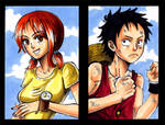 Nami and Luffy Badges