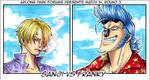 Sanji vs Franky by CoralSnake