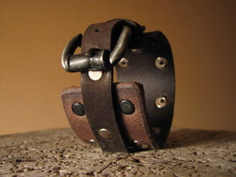 Leather Buckle Bracelet by ErurainaCrafts