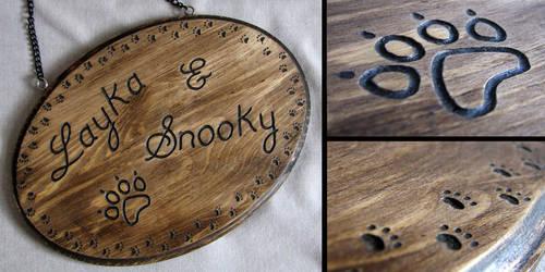 Personalised Wood Pet Plaque