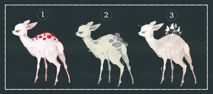 (OPEN) adoptable Mushroom Deer by kiberybivca37