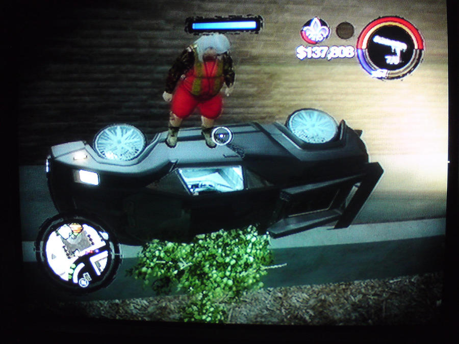 Saints Row 2 Car on Wall by GlitchCatchers