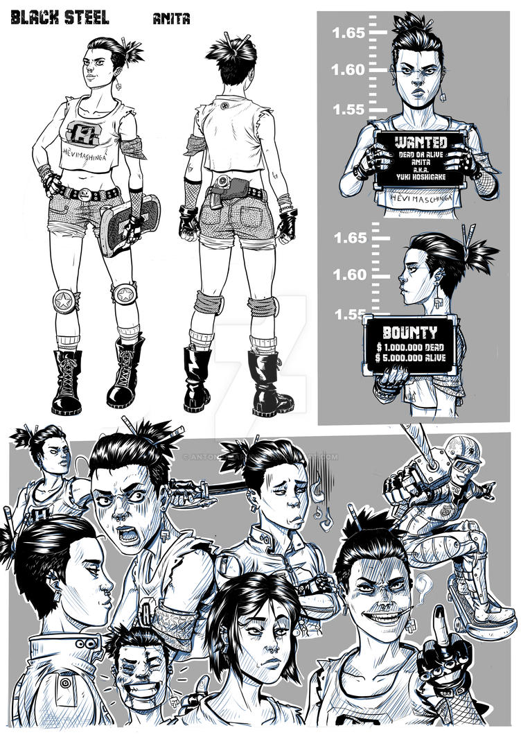 Character Design Ma : Anita character design by antoniomarusso on deviantart