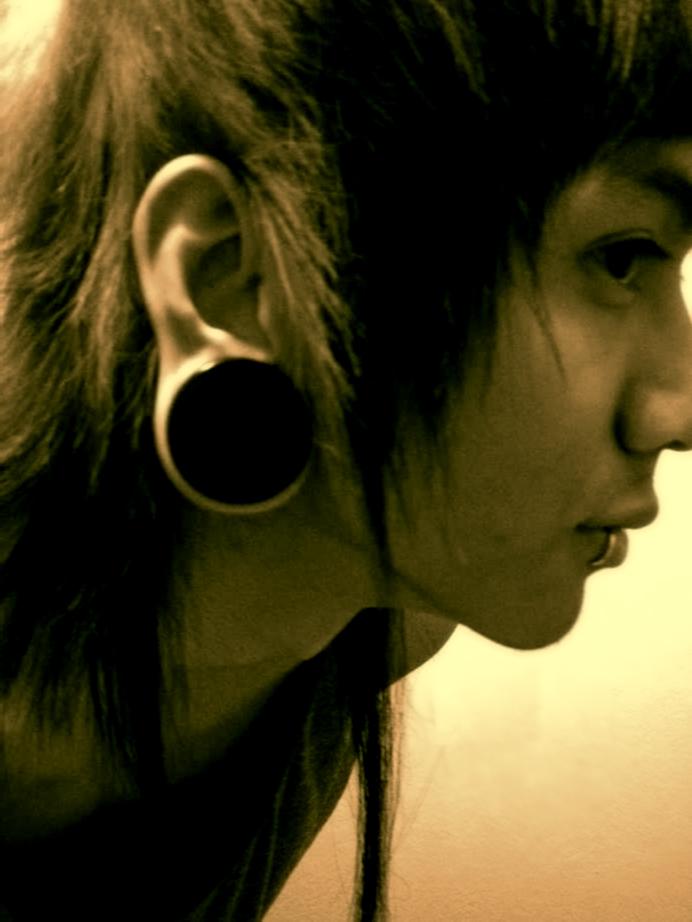 ear gauge size 1 inch three8s by neth7 on deviantart