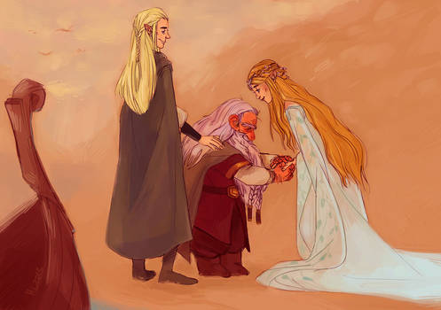 Welcome Gimli, son of Gloin, to Valinor by heathlynnn