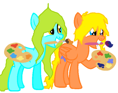 Butterfly Painter and candy twist having fun paint by TheWolfPack79