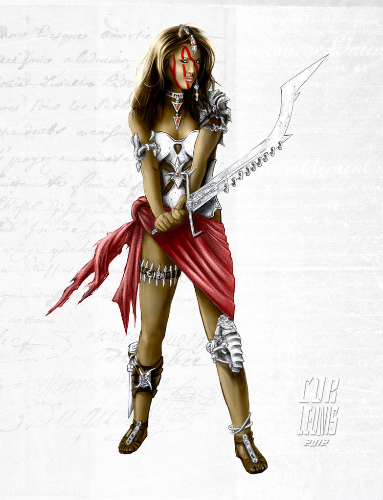 Indian Warrior Fantasy Female Design By Corleonis8 On