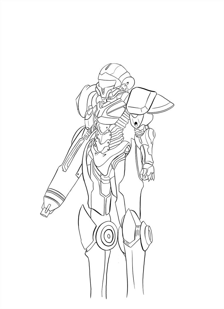Drawing Lines With Swift : Samus aran linework by swift lee on deviantart