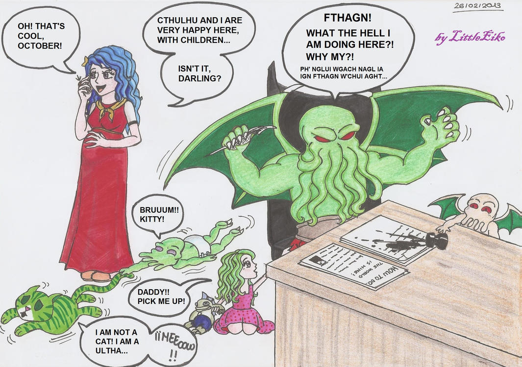 Cthulhu's Family (by LittleEiko87 on DA) (click for larger images)
