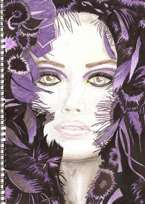 Woman in Purple by LittleEiko87