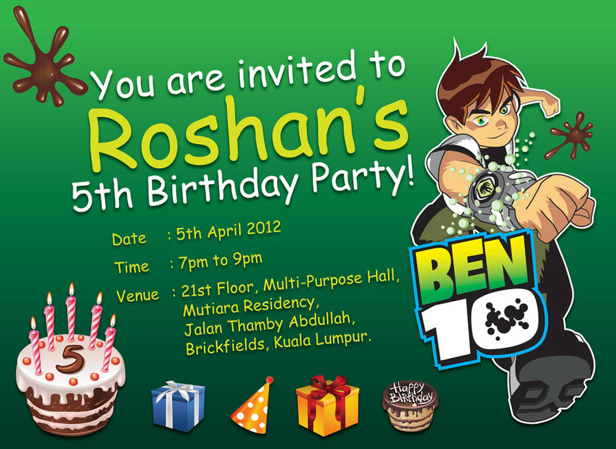 Birthday Invitation Card by AppleTan on DeviantArt
