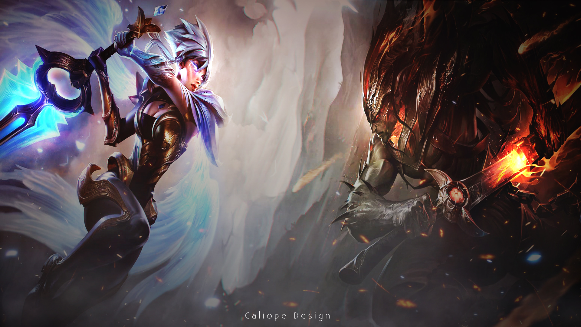 Wallpaper Riven and Yasuo by MissCaliope on DeviantArt