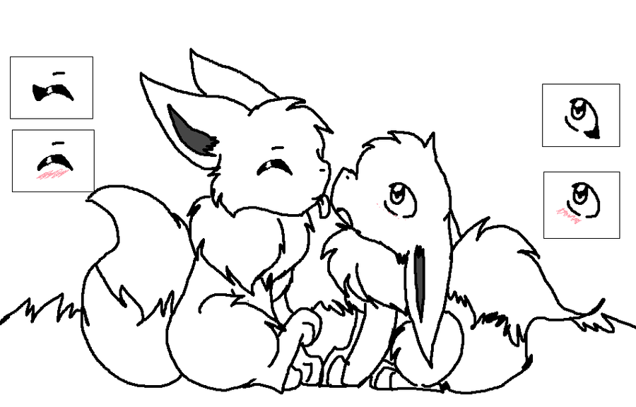 eevee evolutions coloring pages leafeon - photo#36