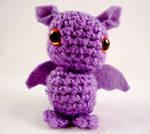 Cute purple Dragon - Kawaii Amigurumi Plushie