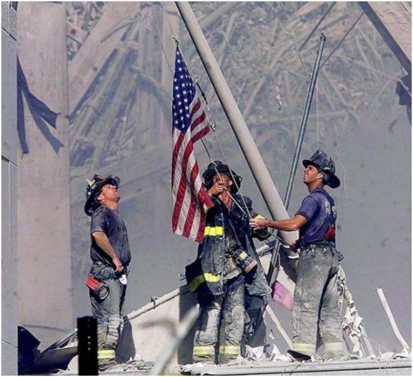 9-11-firefighters-flag by BalloonPrincess