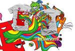 Rainbow Vomit t-shirt