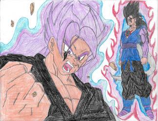 Super Saiyan Phantom Govik vs Super JP-Commission